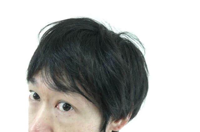 寝起きの髪の毛横の写真