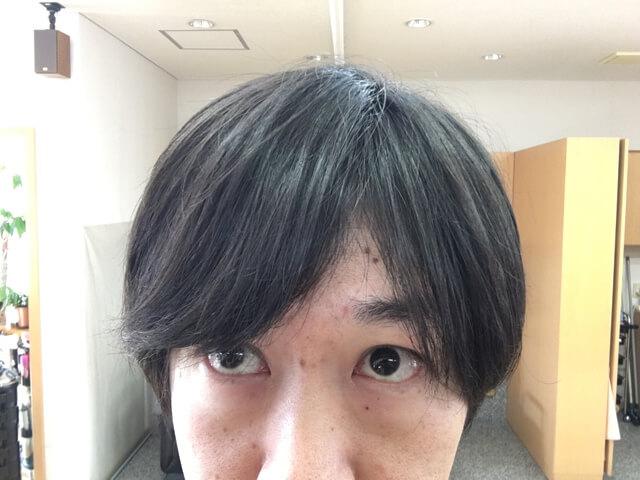 オーガニックワックスをつけた髪の毛