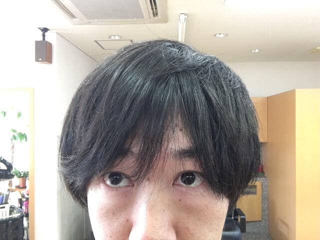 何もついていない髪の毛