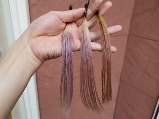 外で見た紫を混ぜたグレー