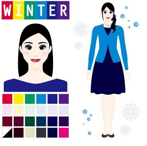 パーソナルカラー診断winter