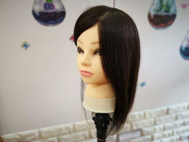 ブリーチなしインナーカラー前の髪の毛