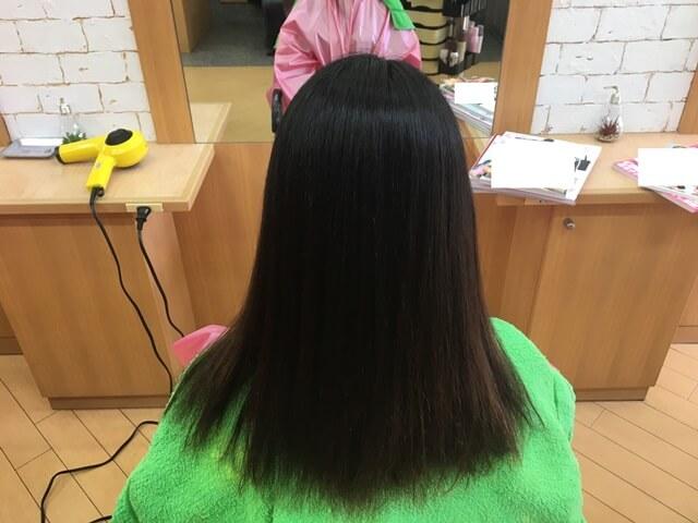 ストレートパーマ後の髪の毛