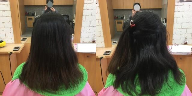 ストレートパーマ前の髪