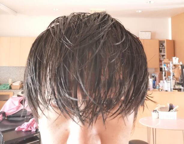 濡らした髪
