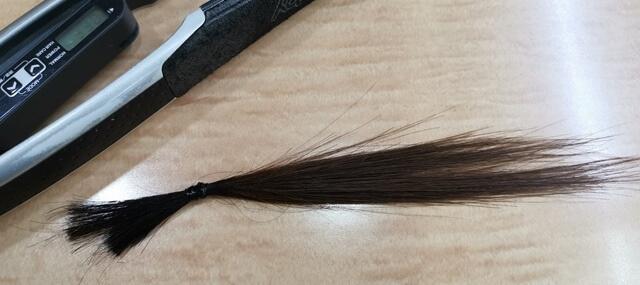 ヘアアイロンで伸ばした髪の毛