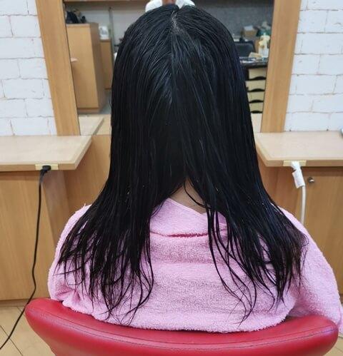 ホリスティックキュア前の髪の毛
