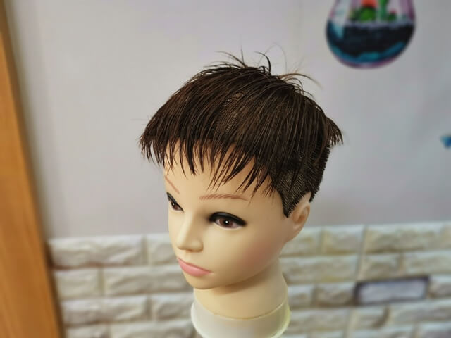 濡らした髪の毛