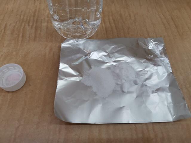 混ぜる前の重曹とクエン酸