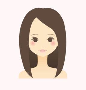 ストレートヘアの女性のイラスト