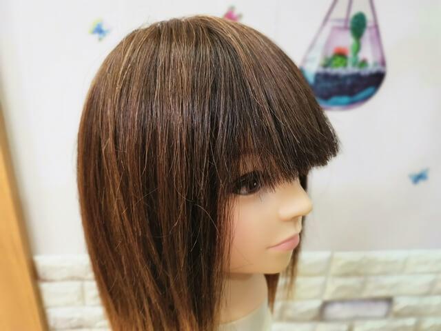 真っすぐすぎる前髪
