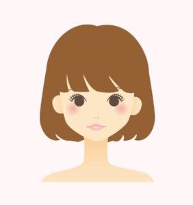 茶髪の女性のイラスト