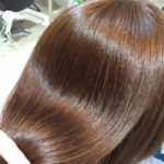 ツヤのある髪の毛の写真