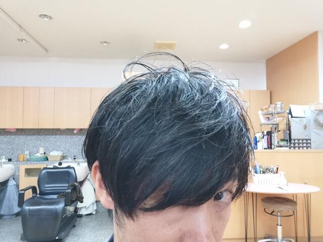 ジオパワーオイルワックスを付けた髪3