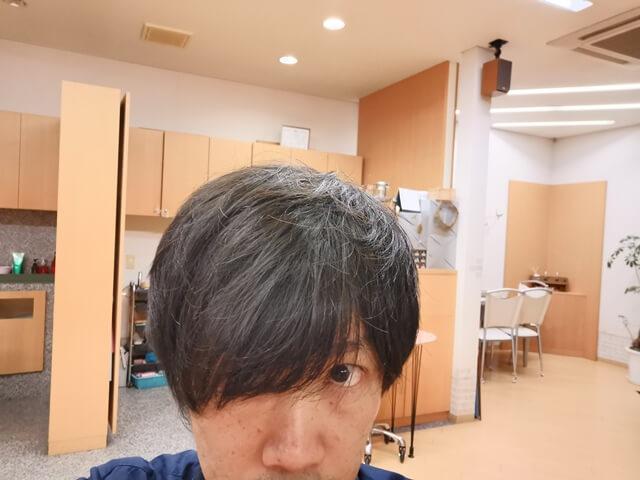 ジオパワーオイルワックスを付ける前の髪