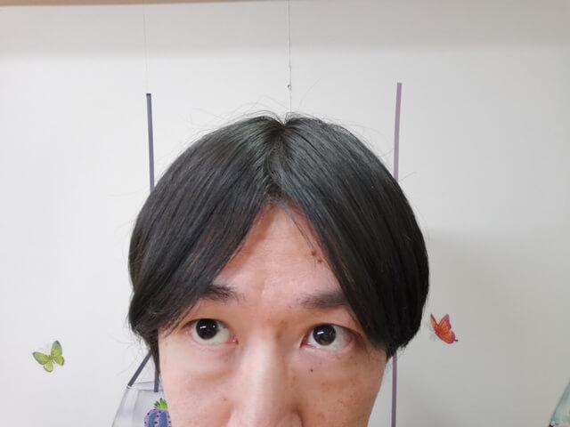ワックスを付ける前の髪