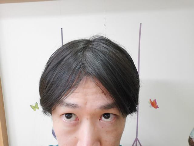 ヘアワックスを水のいらないシャンプーで落とした髪