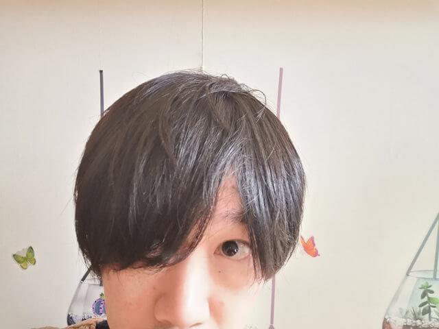 乾かした髪の毛