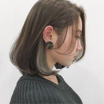 耳後ろだけのインナーカラー