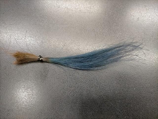 ヘアカラーで色を入れた髪の毛