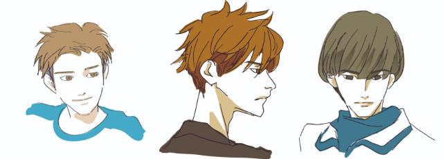 男性の髪型3種類