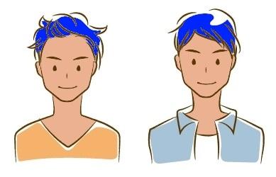 イエベに青髪イメージ