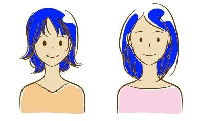 ブルベに青髪イメージ女性