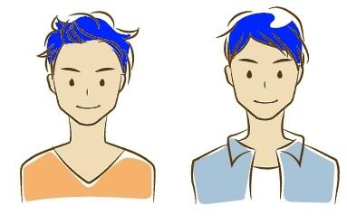 ブルベに青髪イメージ