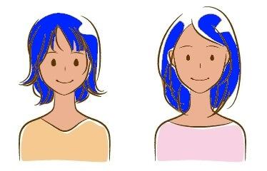 イエベに青髪イメージ女性