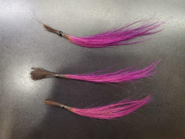 カラーバターで染めた3つの髪