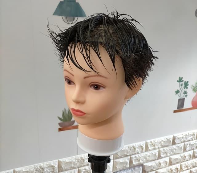 ジェルの前に濡らした髪